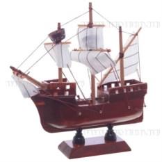 Корабль с белыми парусами, длина 16см