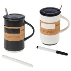 Бизнес-кружка с ложкой и специальным маркером «Органайзер»