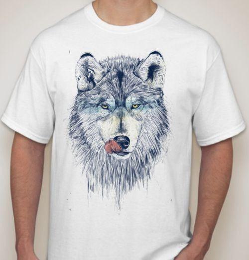 Мужская футболка Волк облизывающийся