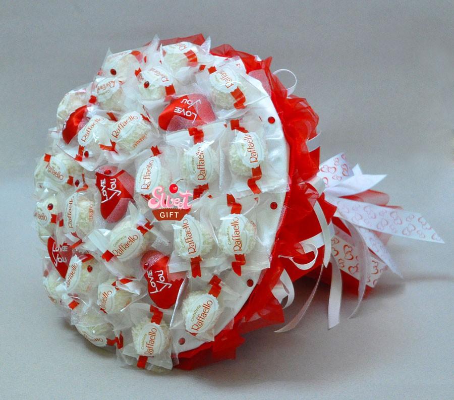 Букет из конфет в подарок фото 199