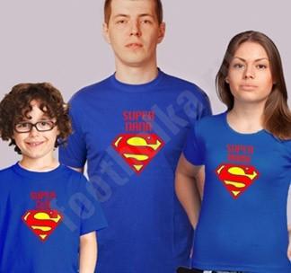 Семейные футболки Супер папа / Супер мама / Супер сын