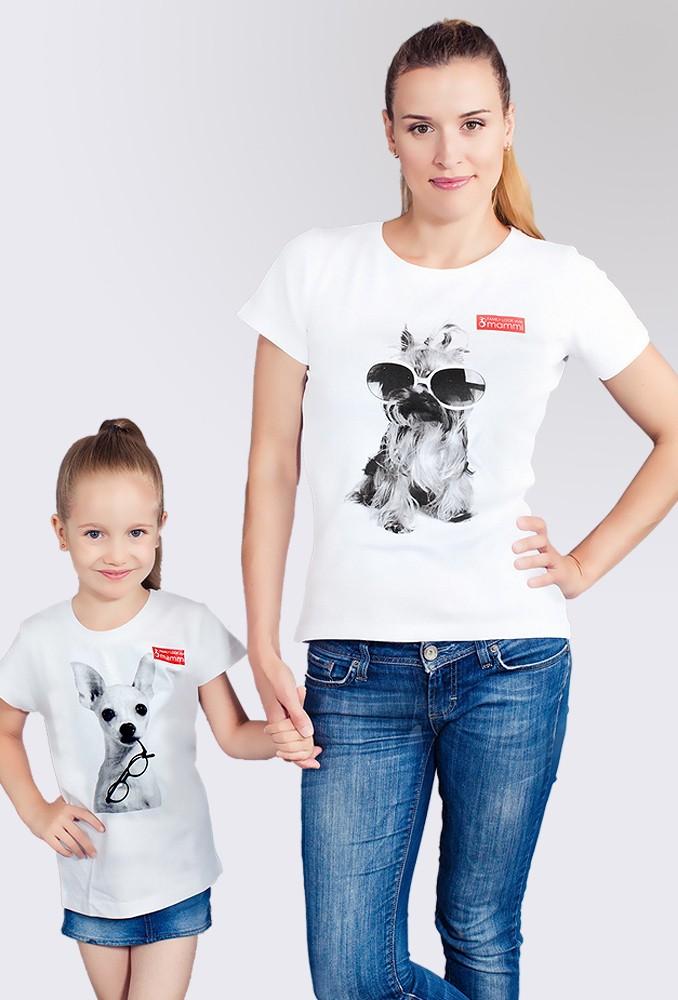 Комплект белых футболок Acapulco для мамы и ребенка