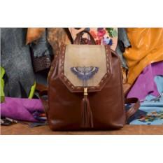 Женский рюкзак с принтом Синяя бабочка