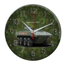 Сувенирные настенные часы Армия России зеленого цвета