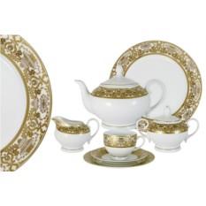 Фарфоровый чайный сервиз на 12 персон Вайден кремовый