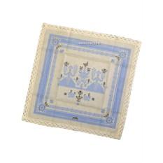 Голубая салфетка Артель с кружевом