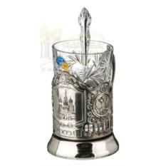 Подстаканник, стакан и ложка Храм Василия Блаженного