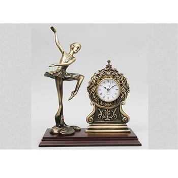 Часы бронзовые интерьерные с балериной