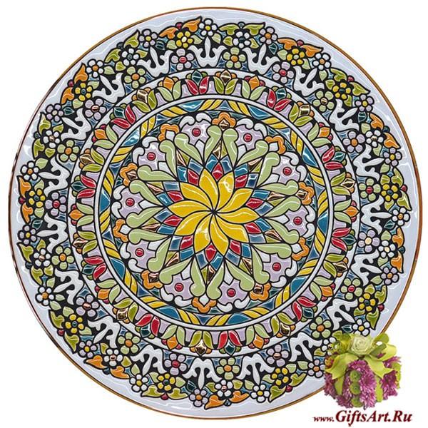 Керамическая декоративная настенная тарелка