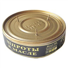 Декоративная свеча Шпроты в масле
