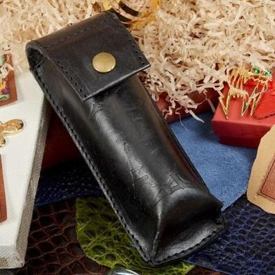 Черный кожаный футляр для очков Elole Design