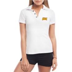 Белая именная женская футболка-поло Алина Треш
