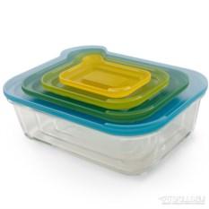 Стеклянный набор из 4 контейнеров Nest