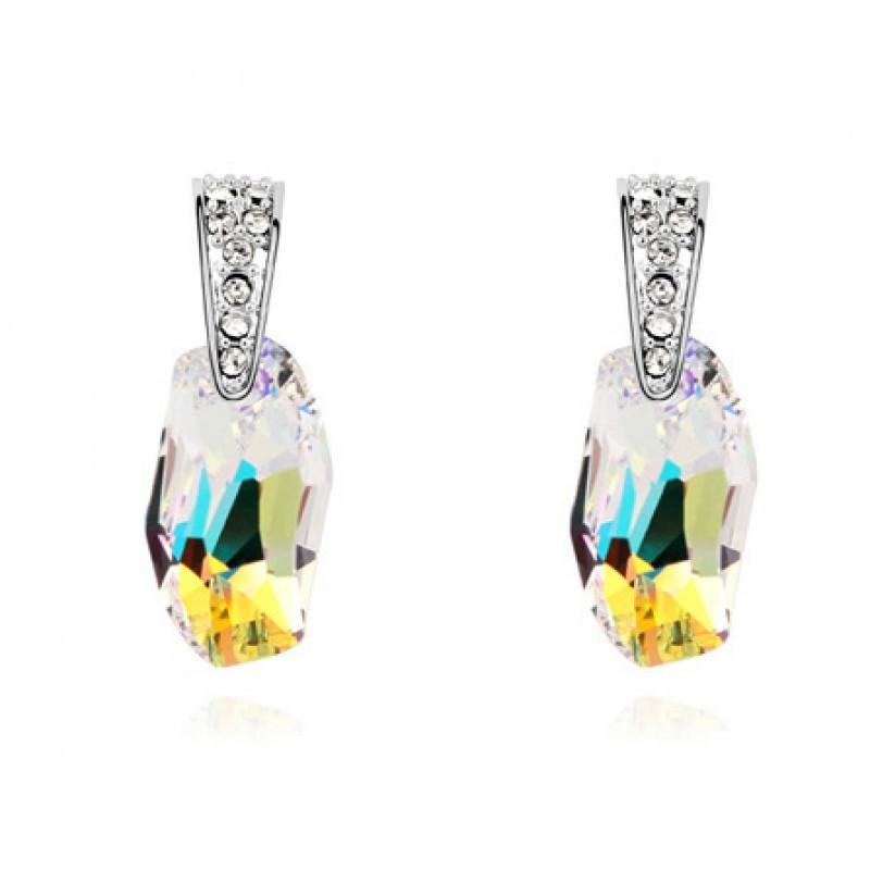 Серьги с кристаллами Сваровски цвета шампань Мечта