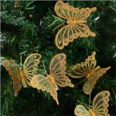 Декоративное украшение Золотая бабочка