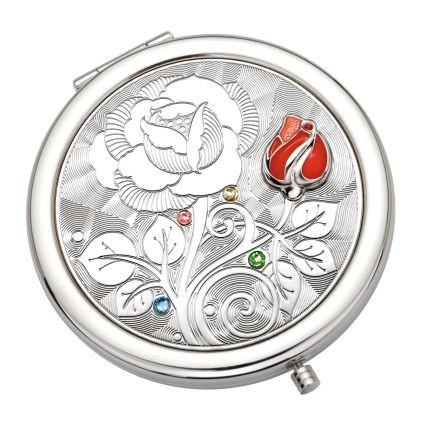 Косметическое круглое зеркало Роза