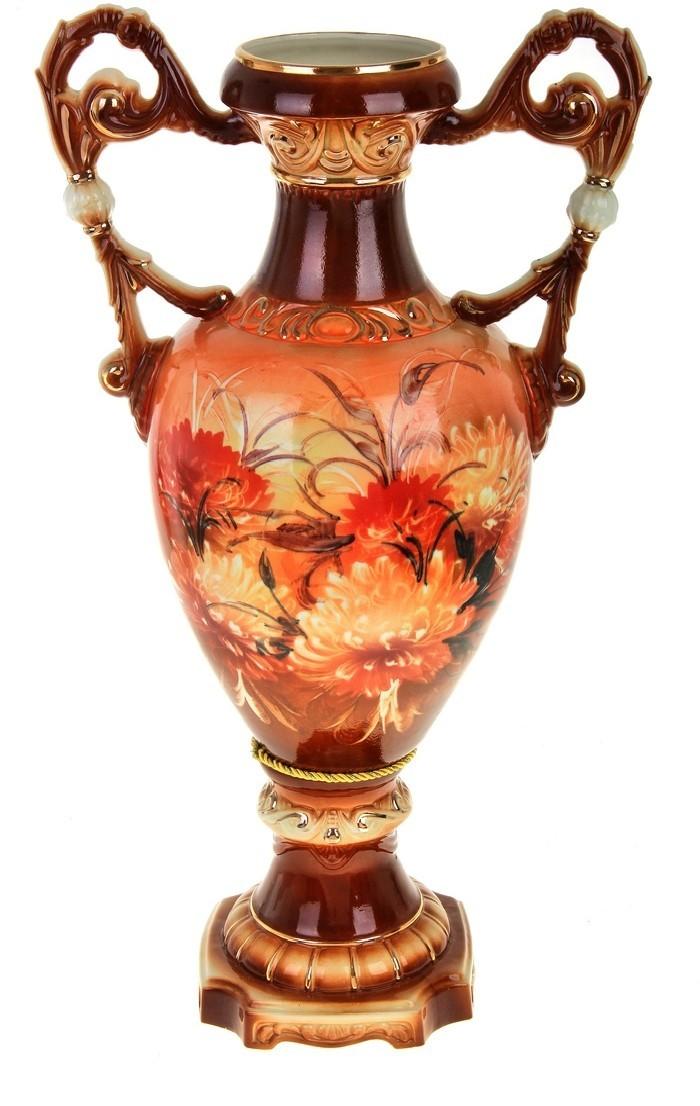 Напольная ваза Флорена, хризантемы