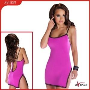 Платье, стринги, фиолетовое, с открытой спиной