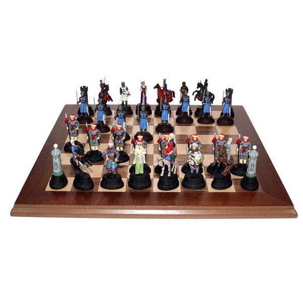 Шахматы из олова Крестоносцы