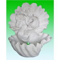 Декоративный фонтан Ангел в раковине