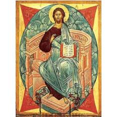 Копия иконы XV века на доске Спас в силах