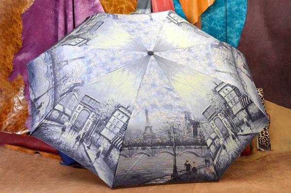Женский зонт Дождливый Париж