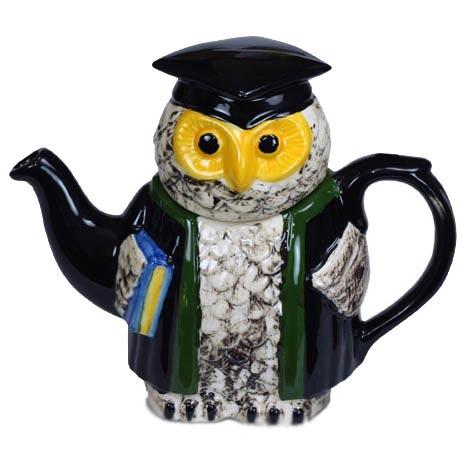 Фарфоровый чайник «Мудрая сова»