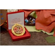 Подарочная медаль «Цветущие 30 лет, с юбилеем!»