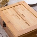 Коробка для чая Five O'Clock, с гравировкой