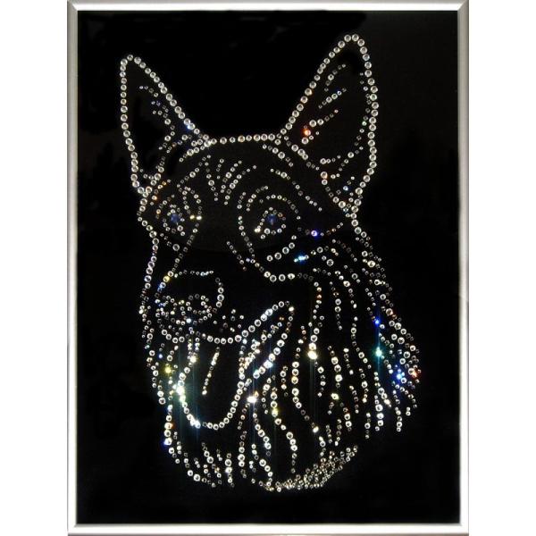 Картина из кристаллов «Овчарка»