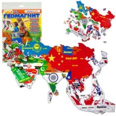 Магнитный гео-пазл «Азия»