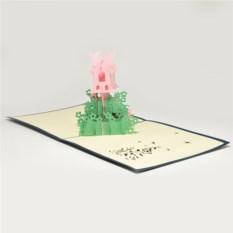Объемная 3D открытка Домик для феи