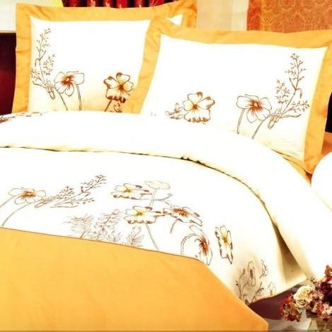 Постельное бельё из сатина с вышивкой «Розьер»