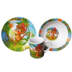 Набор детской посуды «Обезьянка»