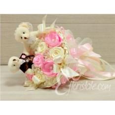 Букет для невесты Розовые пионы