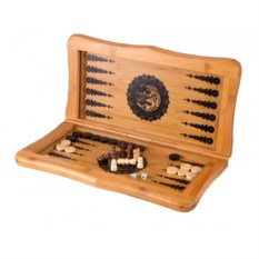 Настольная игра Нарды и Шахматы из дерева