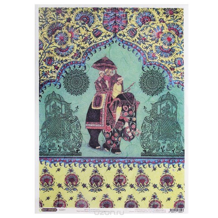 Рисовая бумага для декупажа Craft Premier Раджа, 28,2 см х 38,4 см