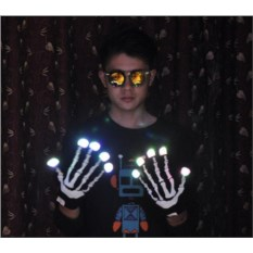 Светящиеся перчатки Скелет