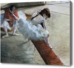 Репродукция картины Отдыхающие балерины. Дега