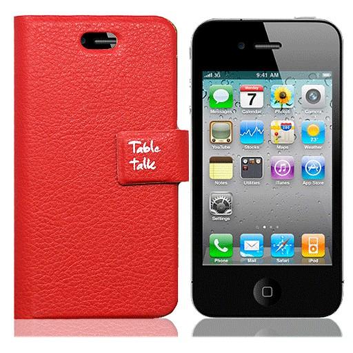 Красный чехол для iPhone4 Table talk