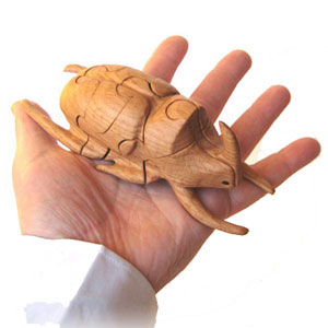 3D Пазл Жук - носорог