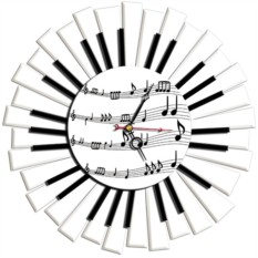 Настенные часы Пианино