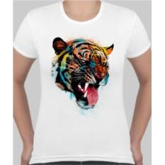 Женская футболка Тигр, светящаяся