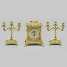 Каминные часы и 2 канделябра, размер 23x18.5x14.5 см