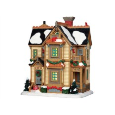 Домик Рождественская Резиденция с подсветкой