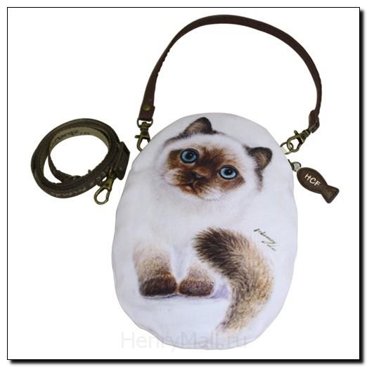 Чехол L с ручкой и тесьмой в форме кошки Шаша
