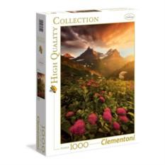 Пазл Clementoni 1000 деталей Горные цветы