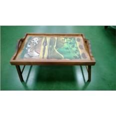 Столик для завтрака в постели с ручками Глаз тигра
