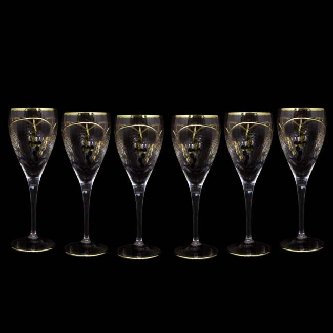 Набор 6 хрустальных бокалов для вина 0,2л Same Тоскана 42018