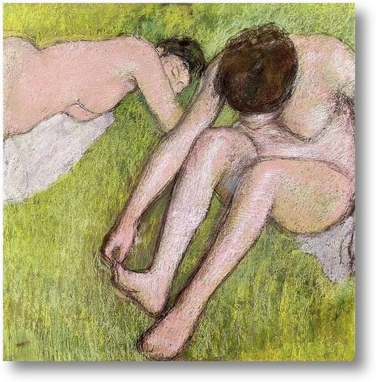 Репродукция картины Две купальщицы на траве